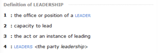 Leadership Leadership  Definition